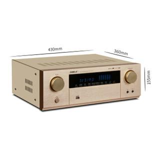 狮乐(SHILE) AV-6612C数码功率放大器5.1声道家庭影院功放高清同轴光纤USB接口带蓝牙功能