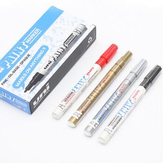 日本三菱(Uni)PX-21 小字油漆笔 0.8-1.2mm工业记号笔物流笔(可用于汽车补漆)黑色12支装