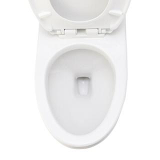 日本伊奈(INAX)  卫浴缓降盖板马桶静音虹吸式坐便器大冲力连体座便器家用马桶1807 坑距400mm+缓冲盖