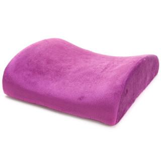 车之吻 车家两用腰靠 慢回弹乳胶棉靠背垫 腰靠垫 紫色