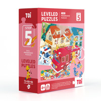 TOI儿童拼图玩具宝宝幼儿 TP224 早教进阶纸质拼图男孩女孩 1-3-4-6岁5阶-生活