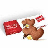 瑞士进口Wernli万恩利巧客佩心形黄油巧克力味饼干100g *4件