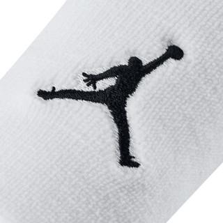 耐克(NIKE)运动护具 护腕 乔丹JORDAN JUMPMAN护腕 AC4094-101/JKN01101OS 两只装 白色 均码