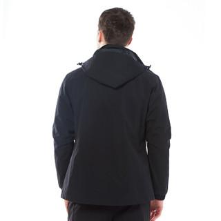 探拓(TECTOP)冲锋衣 男女户外三合一两件套防风防水透气保暖登山滑雪服95133CF 男款黑色 L