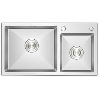 科固(KEGOO)K10030 厨房水槽手工槽双槽 304不锈钢洗菜盆洗碗池75*41