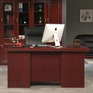 中伟办公家具办公桌总裁桌贴实木皮经理桌1.4米
