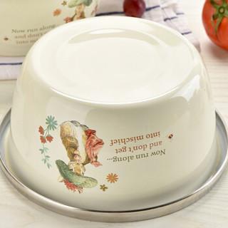 比得兔不锈钢盆家用餐盆大调料缸圆形汤盆打蛋盆和面盆洗菜盆 PR-T741