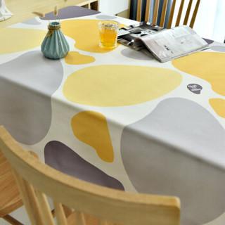 铭聚布艺 防水桌布北欧现代台布茶几布桌布餐桌布艺 防水石头黄色130cm*180cm