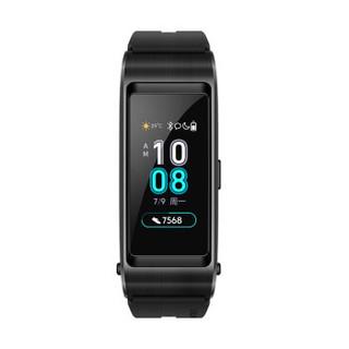 华为手环 B5 (蓝牙耳机+智能手环+心率监测+彩屏+触控+压力监测+Android+IOS通用+运动手环) 运动版 曜石黑