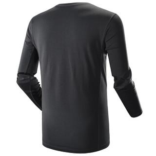 凯乐石(KAILAS)功能内衣 户外运动服装男款coolmax排汗保暖内衣裤套装 墨黑 XL