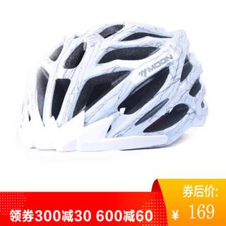 MOON MV27 骑行头盔 自行车头盔山地车头盔一体成型骑行头盔 男女款 骑行装备安全帽 变形金刚白 M码