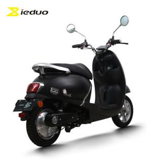小刀 一多(ieduo)电动车 60V电瓶车800W电摩电机成人电动轻便摩托车C1 YD800DQT-35 极光亚黑