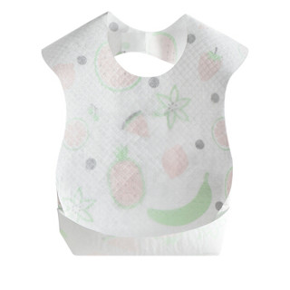 新贝 宝宝一次性围兜防水围嘴可调节翻折饭兜 单片独立包装可便携20片9731