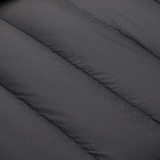 HLA海澜之家羽绒服男2019秋季新品舒适棒球领轻薄羽绒服HWRAJ3R016A黑色(30)180/96A(52)