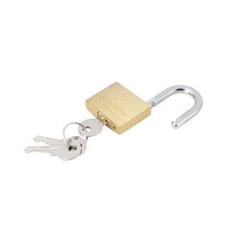 梅花(BLOSSOM)铜挂锁 防水防锈家用锁具 宿舍小挂锁柜门锁 防盗窗锁头35MM(074)