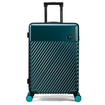 AMERICAN TOURISTER 美旅 拉杆箱 美国设计大师简约商务行李箱静音万向轮TSA锁旅行箱   24英寸登机箱 TE3松石绿