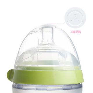 可么多么 COMOTOMO 奶瓶 宽口径硅胶奶瓶 绿色 250ml+3滴