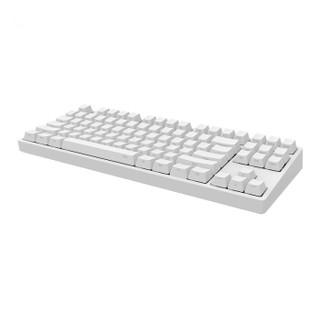 iKBC W200 机械键盘(cherry茶轴、白色侧刻、无光、无线、白色、87键)