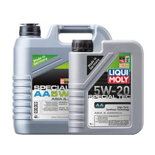 力魔(LIQUI MOLY)德国原装进口 特技AA全合成机油 5W-20 SN 汽车用品 (4L+1L)装