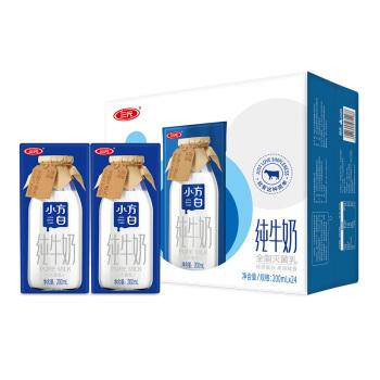 三元(SAN YUAN)小方白纯牛奶200ml*24 *2件