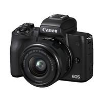 Canon 佳能 EOS M50(15-45镜头)单镜头套装(APS-C、2410万、黑色)