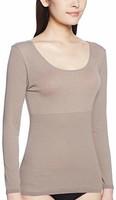 (郡是)GUNZE 女式 HOTMAGIC(HOTMAGIC)保暖条纹 8分袖内衣 日本制造 含税直邮两件261.4