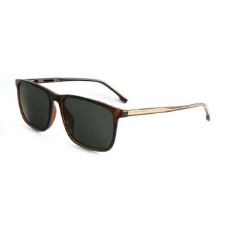 HUGO BOSS 雨果博斯 男款玳瑁色镜框金色镜腿墨绿色镜片眼镜太阳镜 1046/S 086QT 56MM