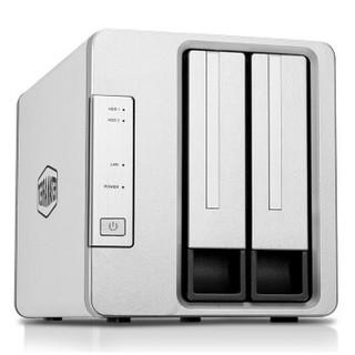 铁威马(TerraMaster) F2-421 Intel四核4G内存 四网口 双盘NAS网络存储 私有云存储服务器