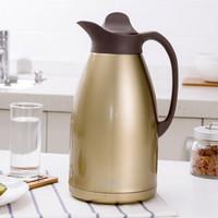 欧润哲 保温壶 大容量304不锈钢保温瓶 家用暖壶热水壶 3L 金色