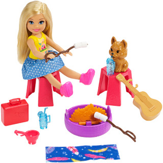 芭比(Barbie)女孩玩具芭比娃娃 小凯莉之露营房车 FXG90