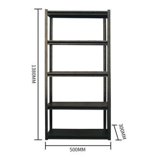 蜂电(FENG DIAN)置物架 钢制黑色五层货架仓储家用厨房阳台收纳铁架子