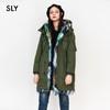 SLY 038BAK30-0910 撞色毛领大衣
