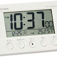 RHYTHM 丽声 Fit Wave Smart  8RZ166SR03 走针时钟 无线电波闹钟