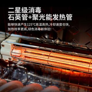 创尔特(Chant)消毒柜台式 家用小型内双层50升大容量 二星级紫外线高温消毒碗柜 RTP50-A1