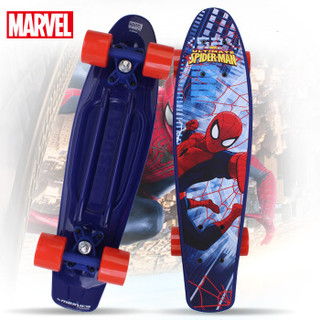 迪士尼(Disney)漫威儿童滑板四轮单翘刷街滑板新手初学代步小鱼板蜘蛛侠ZCD41232-S