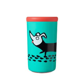 汤美星(Tommee Tippee)不倒水杯 放倒防摔 宝宝学饮杯 儿童可爱卡通饮水杯 12个月以上 绿色
