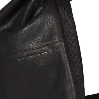 cote&ciel电脑包Nile苹果联想华硕大容量双肩背包15英寸牛皮玛瑙黑28371