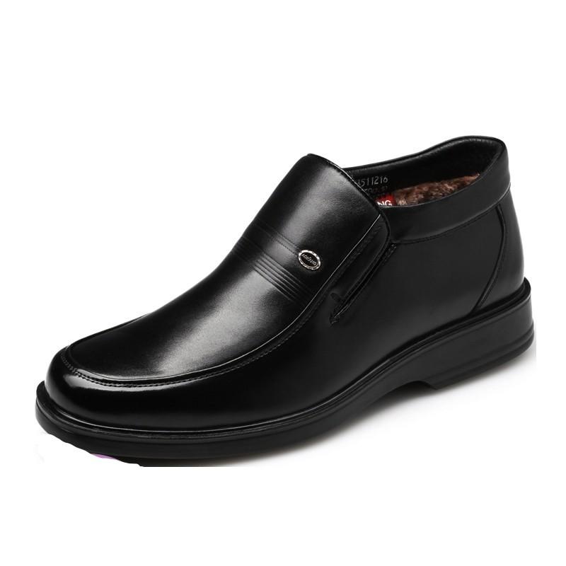 AOKANG 奥康 真皮商务休闲男鞋 #176011172 黑色 44