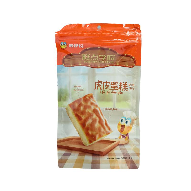 来伊份 虎皮蛋糕 早餐代餐奶油夹心面包糕点心休闲零食 168g/袋 *9件