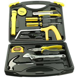 威克(vico)WK-ZT04 14件家用工具套装  多功能工具箱组合 五金维修电工木工工具组套