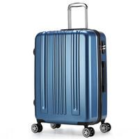 卡拉羊拉杆箱24英寸行李箱男女大容量旅行箱商务出差密码箱子CX8565深海蓝