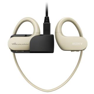 索尼(SONY)NW-WS413防水游泳跑步运动mp3音乐播放器一体耳机 4G(白色)