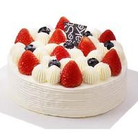 限京沪、京东PLUS会员:Best Cake 贝思客 双莓落雪水果蛋糕 缤纷果味 450g