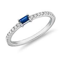银联爆品日:Blue Nile 蓝宝石与钻石密钉戒指