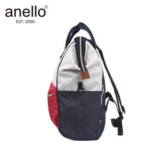 anello 离家出走妈妈包带隔层大号双肩包B2521 红白蓝拼接