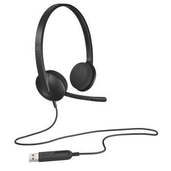 logitech 罗技 罗技(Logitech) H340笔记本台式电脑耳麦耳机麦克风 USB接口 可调节佩戴音乐 H340