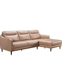 KUKa 顾家家居 1031现代简约头层牛皮沙发(3右单+躺左单)