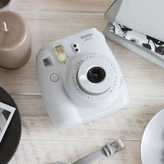 富士instax立拍立得 一次成像相机mini9 烟灰白色 精美礼盒 双十一礼盒(含10张相纸/欧舒丹手霜)