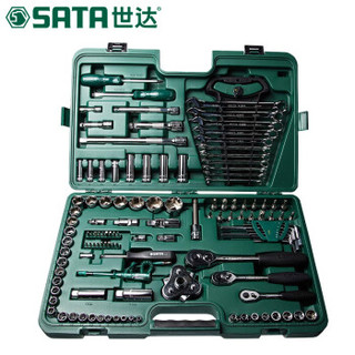 世达 SATA汽车维修工具组套121件棘轮扳手套筒汽修汽保组合套装 09014A