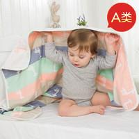 施倍尔 6层婴儿浴巾纯棉纱布